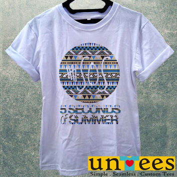 Low Price Women's Adult T-Shirt - 5sos 5 seconds of Summer on Classic Aztec design