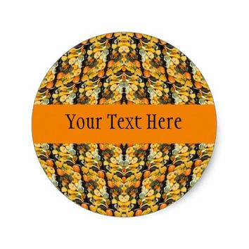 Pumpkins, Squash, and Gourds - Abstract Classic Round Sticker