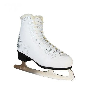 Unisex Figure Ice Skates Shoes of PVC shoe upper, Stainless Steel Ice Blade Women Figure Skate Shoes, Teens Ice Skates