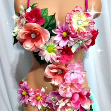 Tropical Fantasy Rave Outfit