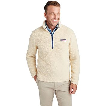 Heritage Sherpa 1/2-Zip in Camel by Vineyard Vines