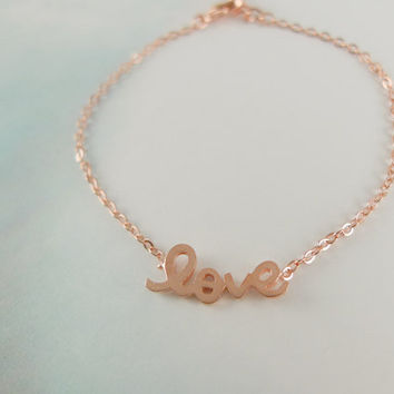 LOVE bracelet in rose gold pink