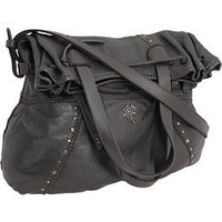 Lucky Brand Sunset Junction Metallic Leather Foldover Convertible Tote Metallic Charcoal - 6pm.com