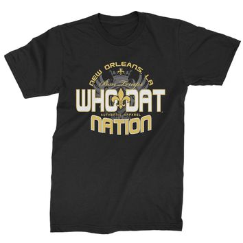 Who Dat Nation New Orleans (Color) Mens T-shirt