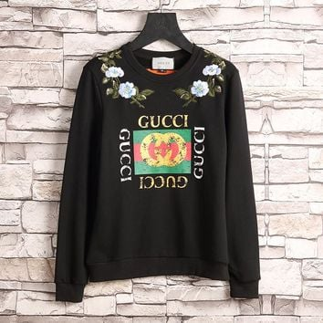 Gucci Women or Men Fashion Casual Pattern Embroidery Top Sweater Pullover