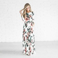 lightweight floral print Summer Long maxi  Dress
