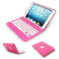 Kamor® Apple iPad mini Keyboard Case High Quality Cover with Ultra Slim Bluetooth Keyboard for 7.9 inch New iPad Mini, Folio Style with IOS Commands WILL NOT COMPATIBLE WITH IPAD MINI 2rd GEN - Pink