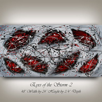 Huge Acrylic Red Abstract painting WALL ART PAINTING Abstract Art for sale large modern art abstract fine art gallery room decor by Nandita