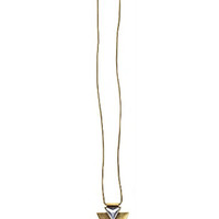 Jenny Bird Shield of Glory Necklace in Gold and Silver