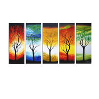 Modern Elements of Nature Landscape Canvas Wall Art Oil Painting