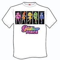 ADULT t-shirt Glitter Force style 1