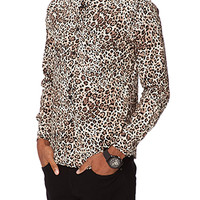Slim Fit Leopard Print Shirt
