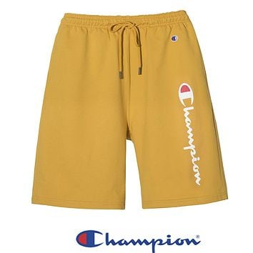Champion New fashion letter print couple shorts Yelllow