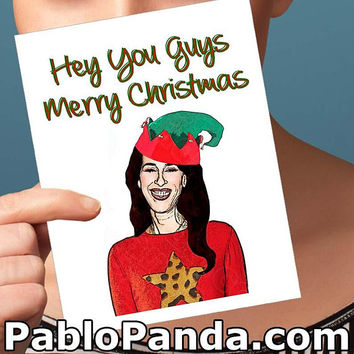 Christmas Cards | Friends Tv Show | Husband Gift Boyfriend Gift Baby Cards Funny Xmas Card Card For Brother Friends Quotes Funny Christmas