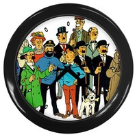 Tin Tin Movie Wall Clocks 10 Inch Kitchen Modern Unique Round Black Decorations High Quality Great G