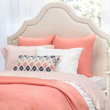 The Scalloped Coral Quilt & Sham