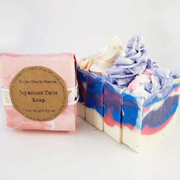 Yuzu, Citrus, Soap Frosting, Colorful Soap, Soap Gift, Handcrafted Soap, Artisan Soap, Moisturizing, Wedding Favors, Bridal Shower Favors