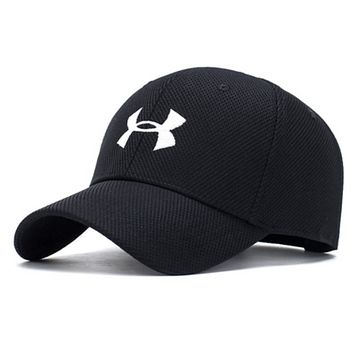 Under Armour New fashion embroidery letter couple cap hat Black
