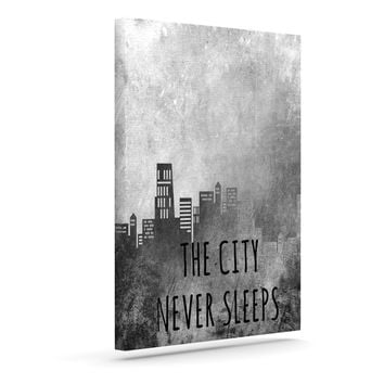 "Alison Coxon ""The City Never Sleeps"" Outdoor Canvas Wall Art"