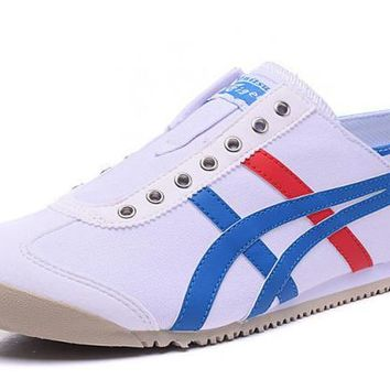 asics japan onitsuka tiger blue white unisex running shoes sneakers trainers  number 1