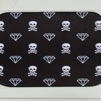 Fashion Carpet Toilet Anti-slip Rug Black Porch Doormat Floor Mats Skull Printed Kitchen Rugs ws76
