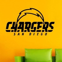San Diego Chargers NFL American Football Team Logo Sport Wall Vinyl Decal Mural Decals Sticker W1344