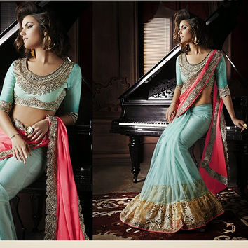 SKH025 Designer Indian Bridal Party Wear Traditional Saree