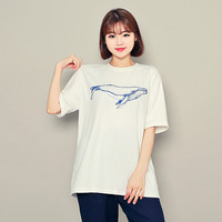 Whale Print T-Shirt by Hotping
