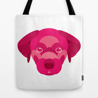 Pink Puppy Tote Bag by Natalie Ryder