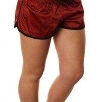 "Alpinestars Women's ""Cascade Boardshort"" Boardshorts Red w/Black Pattern-5"