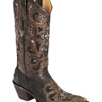 Corral Crystal Cross Python Cowgirl Boots - Pointed Toe - Sheplers