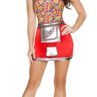 Women's Jelly Bean Machine Halloween Costume
