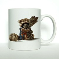Groot and Rocet Racon Mg 11oz Ceramics