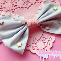 Fairy Kei Lilac Galaxy Bow