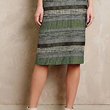 NWT Anthropologie Striped Jade Skirt Sz 0 and 2 - By Leifsdottir