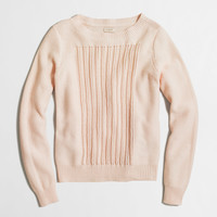 Factory beach sweater with pointelle panel