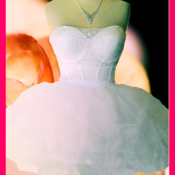 Gorgeous Bachelorette Party Dress Outfit--MINI version // Madonna Like A Virgin Costume Gown Outfit // 80s Prom