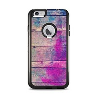 The Pink & Blue Grunge Wood Planks Apple iPhone 6 Plus Otterbox Commuter Case Skin Set