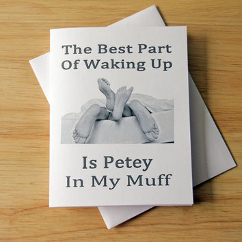 Naughty Card, Dirty Card, Boyfriend Gift, Girlfriend Gift, Sexy Card, Couple In Bed, Card For Boyfriend, Love Card, Card For Girlfriend