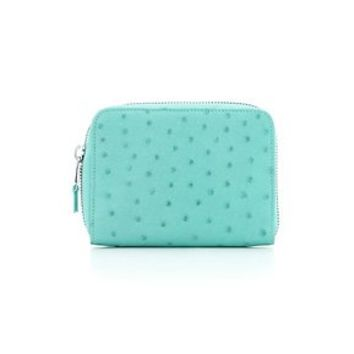 Tiffany & Co. -  Tiffany smart zip wallet in Tiffany Blue® ostrich. More colors available.