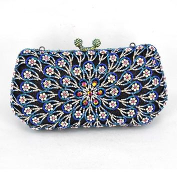 Women Evening Bag/ Clutch Handbag LuPlum blossom Flower Purse