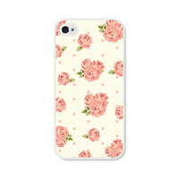 Peach Floral Rose iPhone Case  iPhone 4 Case  iPhone by fieldtrip