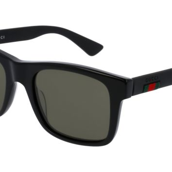 Gucci - GG0008S-002 Black Sunglasses / Grey Polarized Lenses
