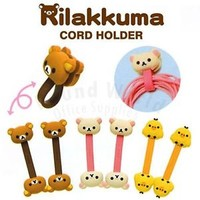 San-X Rilakkuma Relax Bear iphone Headphone Earphone Mini Cord Holder Organizer