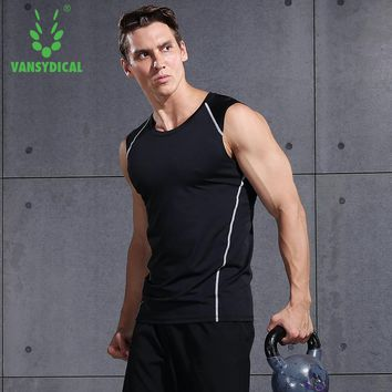 Men GYM T-shirt Running Shirt tank Quick Dry Breathable Sleeveless Sports Tops Vest