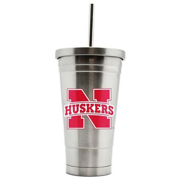 Duckhouse 16oz stainless steel travel tumbler Nebraska