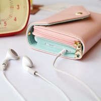 HT Multi Purpose Wallet Case coin Purse wrist bag for iPhone 4 4S 5 5G Galaxy PK