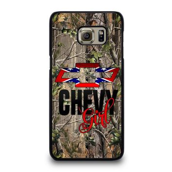 CAMO BROWNING REBEL CHEVY GIRL Samsung Galaxy S6 Edge Plus Case Cover