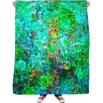 Green Love Potion 7 Fleece Blanket