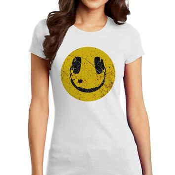 EDM Smiley Face Juniors Petite T-Shirt by TooLoud